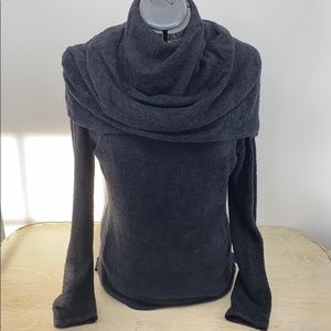 Athleta Sweater Cowl/shawl neck Medium Black BIN B